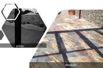 Reparación de patio en Leganés